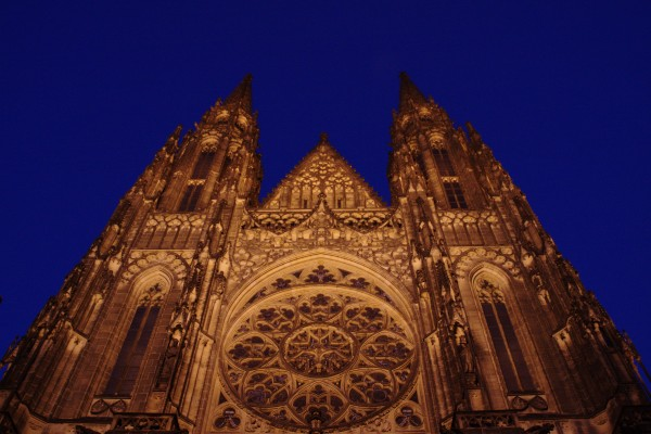 The Prague Cathedral at Night